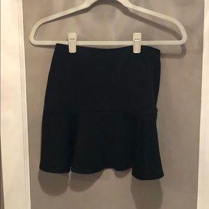 Bethany Moto black short skirt